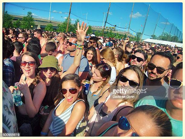 The audience at Governors Ball music festival Randalls Island New York City