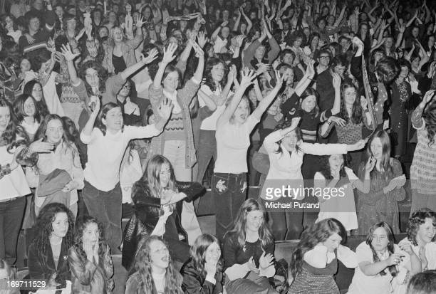 The audience at the Odeon Birmingham during a concert by English glam rock group TRex 9th June 1972
