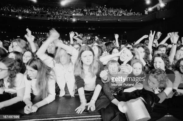 The audience at the Sundown Edmonton for a concert by English glam rock group TRex London 22nd December 1972