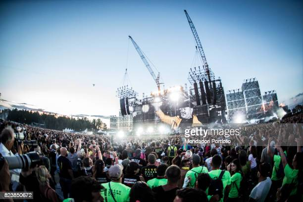 The audience at the Vasco Rossi's record concert at the Enzo Ferrari park where 220000 people participated Modena July 1 2017