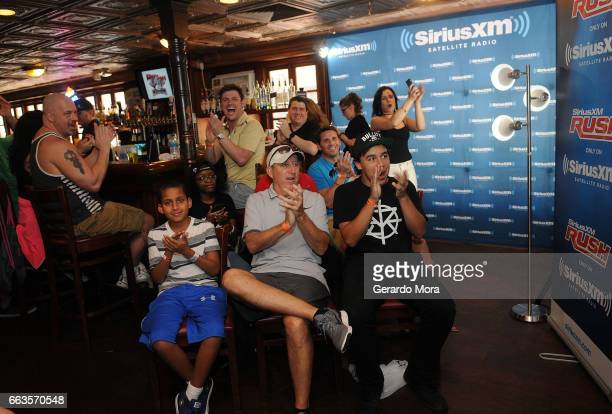 The audience cheers during the SiriusXM's Busted Open Live From WrestleMania 33on April 1 2017 in Orlando City