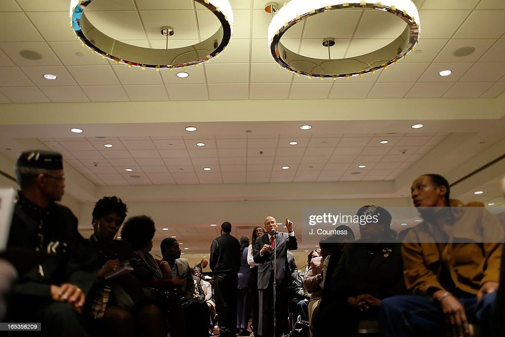 The audience in attendance during the panal 'Gun Violence: Addressing Real Reform' during the 2013 NAN National Convention Day 1 at New York Sheraton Hotel & Tower on April 3, 2013 in New York City.
