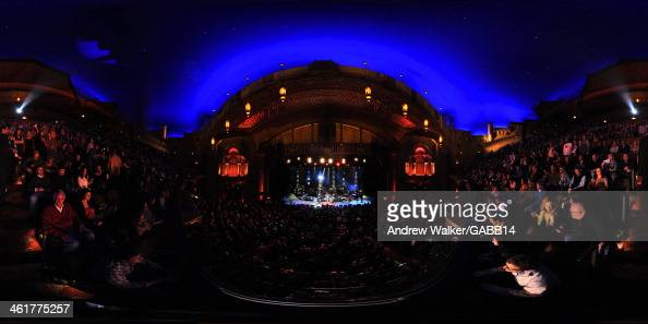 The audience watches musicians perform during All My Friends Celebrating the Songs Voice of Gregg Allman at The Fox Theatre on January 10 2014 in...