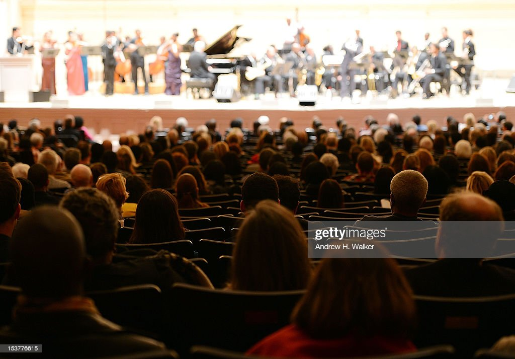 The audience watches The New Orleans Jazz Orchestra perform at Carnegie Hall on October 8, 2012 in New York, New York.
