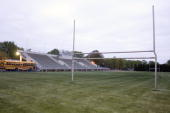 The Audubon High School football field where former star quarterback Joe Flacco played sits empty April 26 2008 in Audubon New Jersey Flacco was...