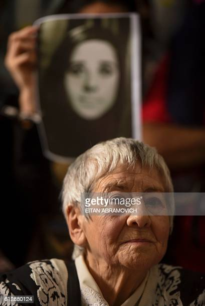 The aunt of the 121st grandson found by the Abuelas of the Plaza de Mayo humanitarian organization Alma Lanzillotto member of the human rights...