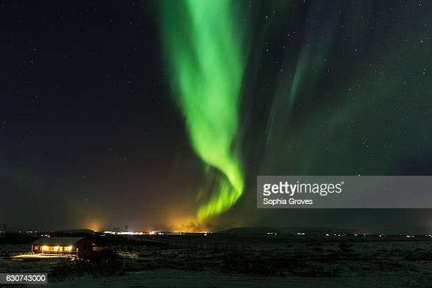 The Aurora Borealis on display near Selfoss on December 31 2016 in Reykjavik Iceland