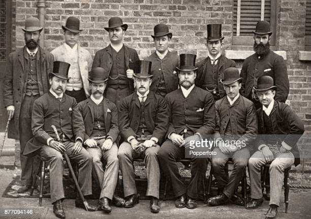 The Australia cricket team in London circa 1888 Left to right back row Jack Blackham Jack Worrall Affie Jarvis Harry Trott Charlie Turner and Harry...