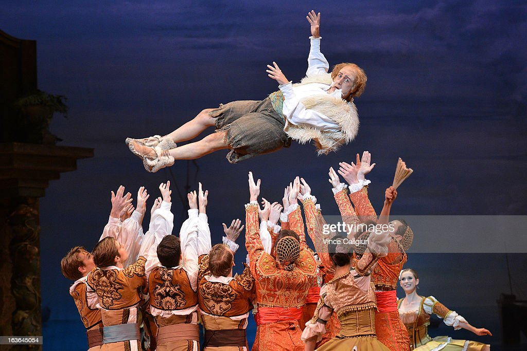 The Australian Ballet dancers performing in Act 1 during a Don Quixote dress rehearsal at the State Theatre on March 14, 2013 in Melbourne, Australia. The Melbourne season of Don Quixote opens on March 15.