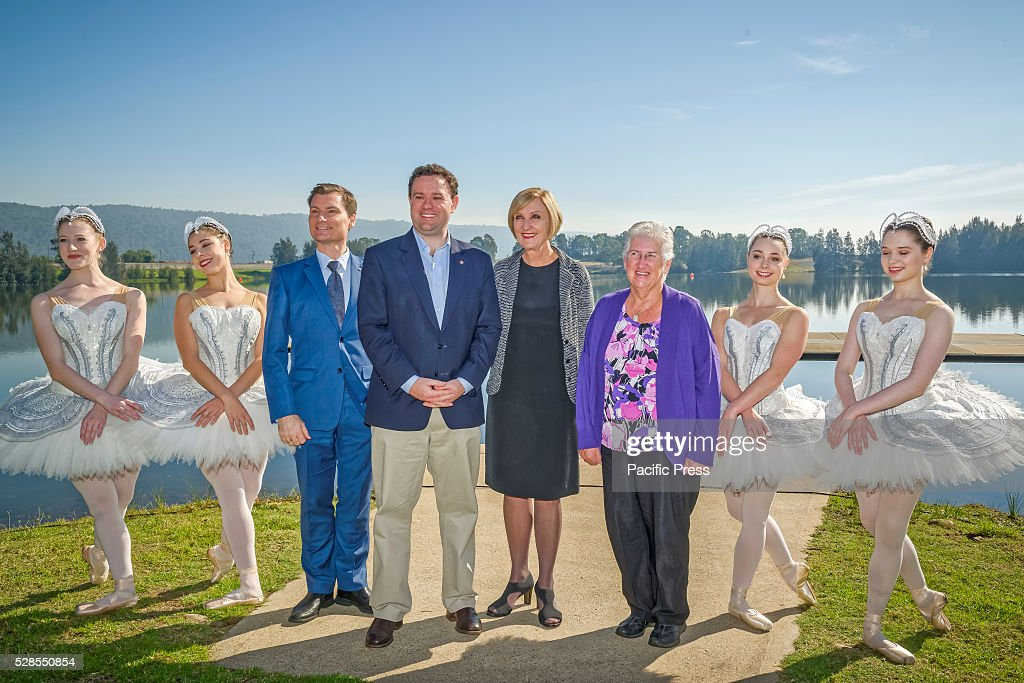 The Australian Ballets Artistic Director, David McAllister, New South Wales Minister for Trade, Tourism and Major Events Stuart Ayres, Australian Ballets Executive Director Libby Christie at the The Australian Ballet launch of its community program, 'Ballet Under the Stars' at the Sydney International Regatta Centre in Penrith.