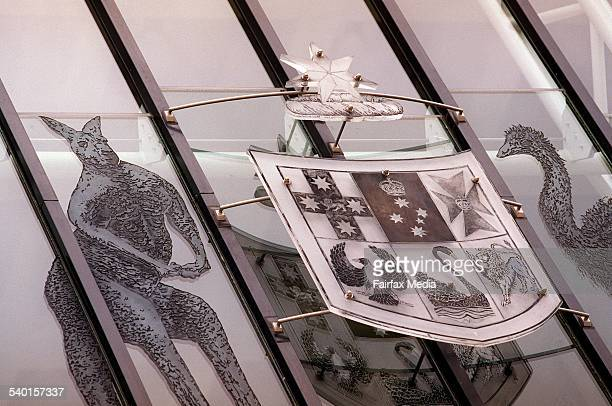 The Australian Coat Of Arms sits on the exterior walls of the High Court in Canberra 22 January 2004 AFR Picture by GABRIELE CHAROTTE