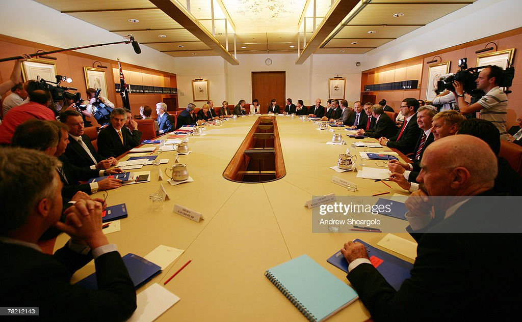The Australian government holds its first Ministers meeting in Parliament House on December 3 2007 in Canberra Australia Kevin Rudd was today sworn...