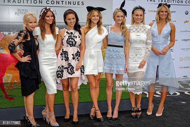 RANDWICK SYDNEY NSW AUSTRALIA The Australian Turf Club carnival ambassadors Nerida Winter Jodi Gordon Grace Huang Isabel Cornish Storm Uechritz Elyse...