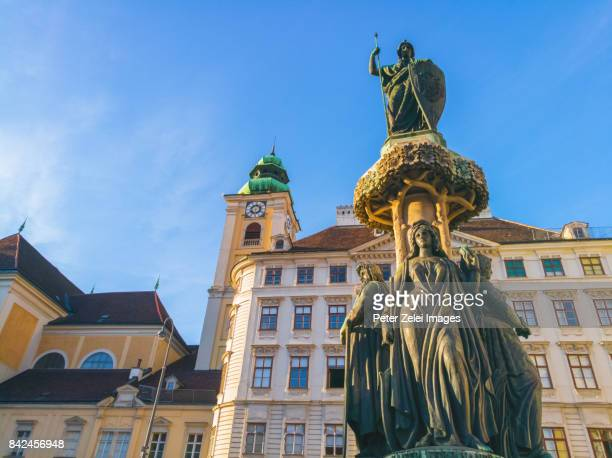 The Austriabrunnen fountain, located in Freyung public square in the Innere Stadt of Vienna