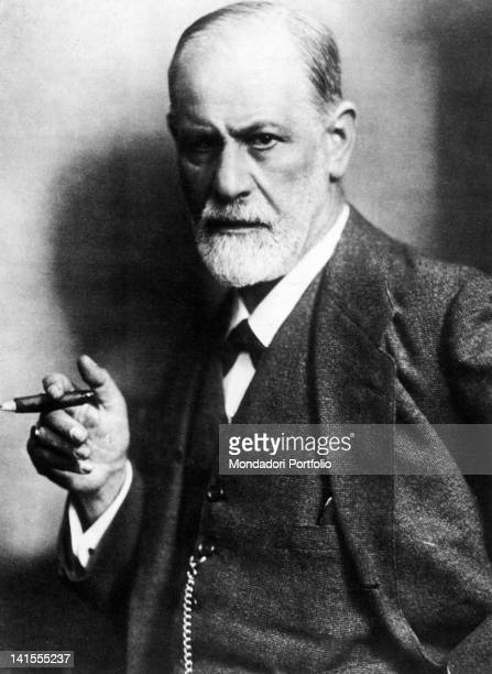 The Austrian neurologist and analyst Sigmund Freud smoking a cigar 1922