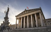 STURDEE The Austrian Parliament Building designed by Danish architect Theophil Hansen is pictured in Vienna Austria on February 3 2015 Vienna's...