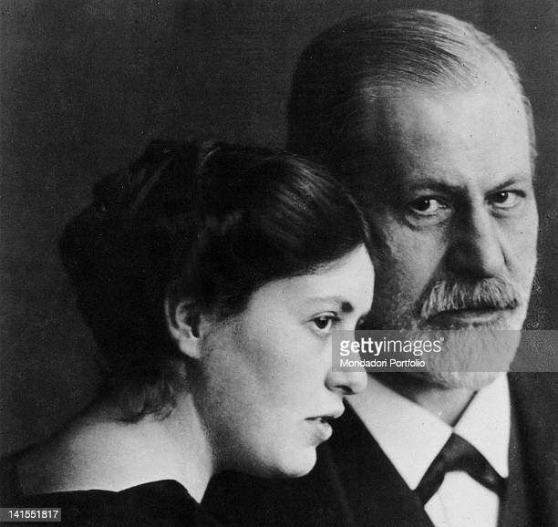 The Austrian psychoanalyst Sigmund Freud posing with his daughter Sophie Austria 1910s
