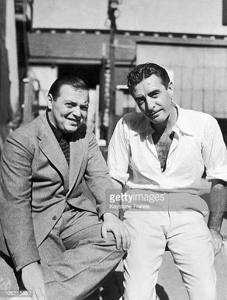 The AustroHungarian Actor Peter Lorre And The American Actor John Gilbert In Hollywwod In California On September 20 1934