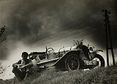 The author's Opel race car photographed in a small fishing village on the Baltic Deep Germany 1932