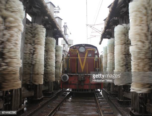 The automated train cleaning machines at the Lokmanya Tilak Terminus