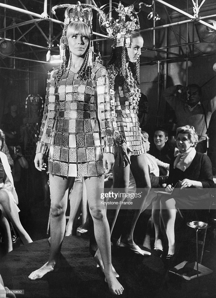 The AvantGarde Fashion Designer Paco Rabanne'S Famous Armored Dress Made From Metal Plates