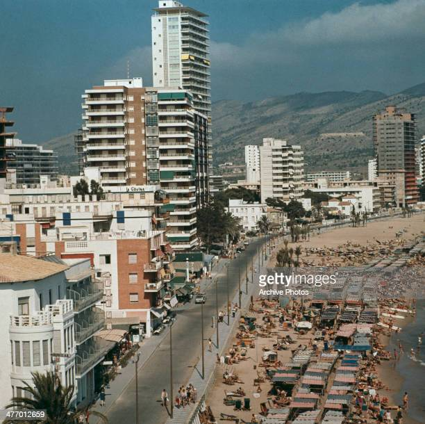 The Avenida de Alcoy on the beachfront at Benidorm Spain 28th September 1970