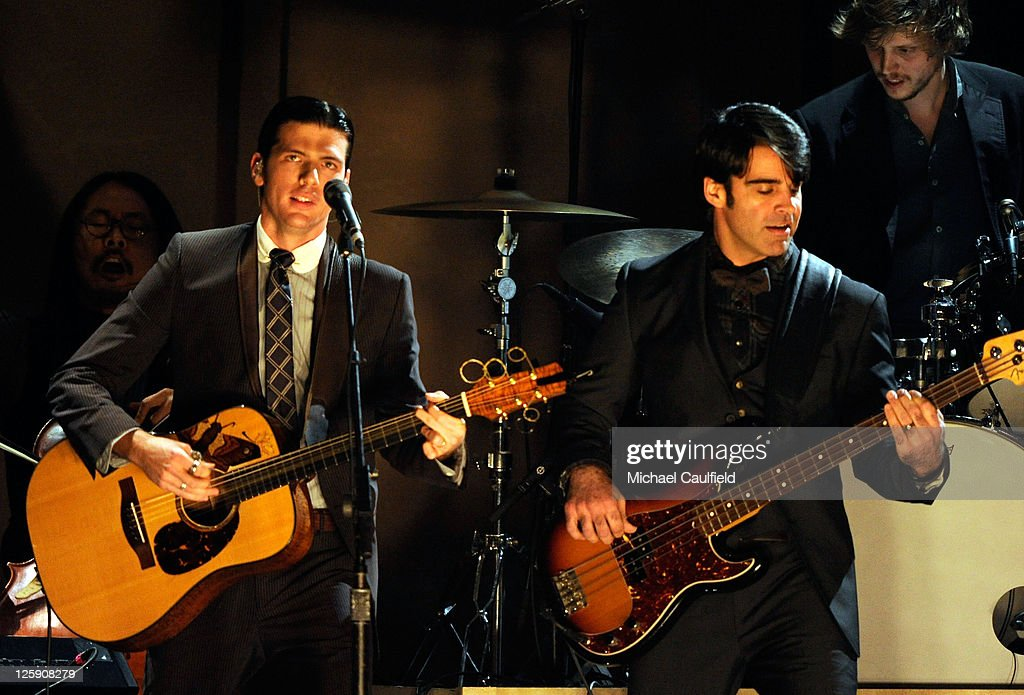 The Avett Brothers onstage during The 53rd Annual GRAMMY Awards held at Staples Center on February 13, 2011 in Los Angeles, California.