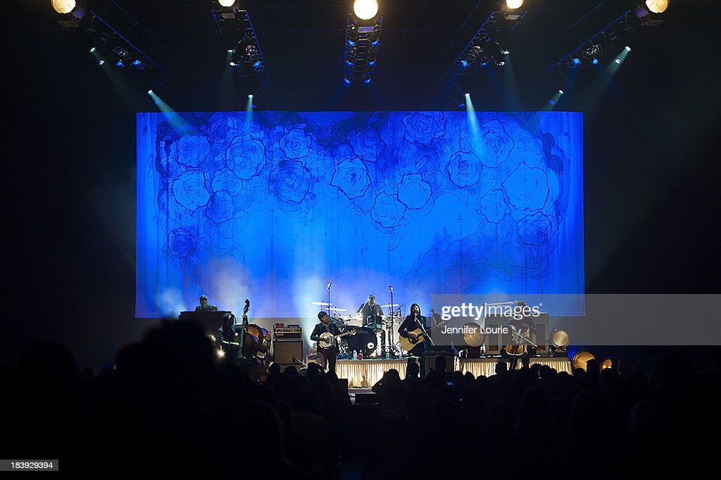 The Avett Brothers perform at The Shrine Auditorium on October 9, 2013 in Los Angeles, California.