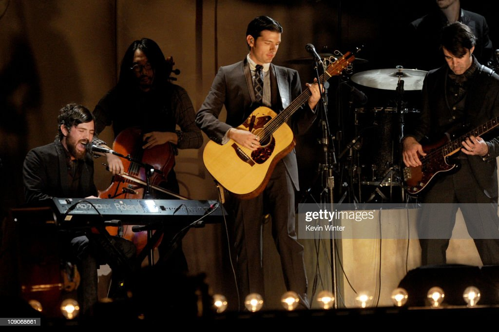 The Avett Brothers perform onstage during The 53rd Annual GRAMMY Awards held at Staples Center on February 13, 2011 in Los Angeles, California.