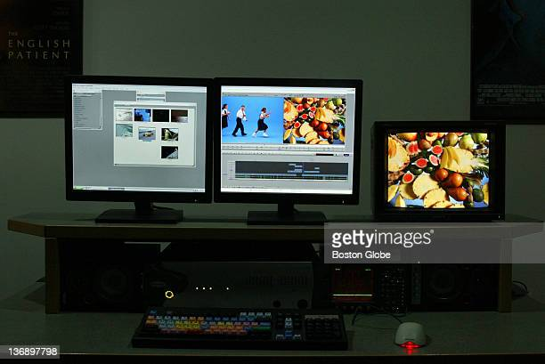 The Avid Media Composer Adrenaline video and film editing workstation is set up for use in the operational training room in Avid Technology Inc...