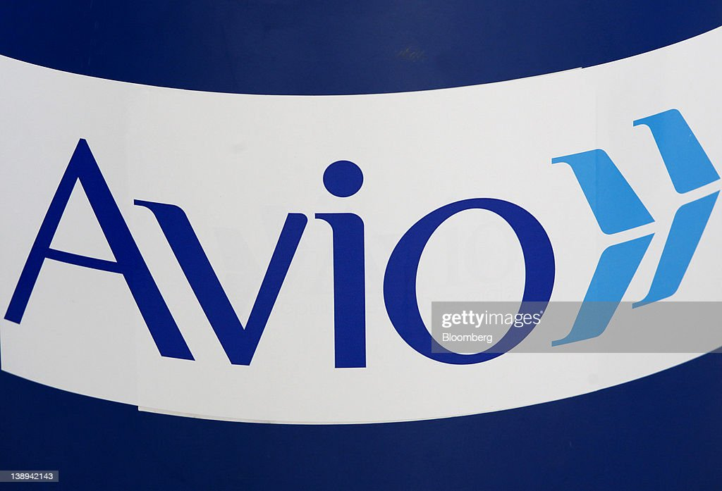 The Avio SpA logo is displayed inside the company's headquarters in Colleferro, near Rome, Italy, on Monday, Feb. 13, 2012. Avio, an Italian provider of aerospace services and equipment including gearboxes for aircraft engines, aims to sell shares to the public when the market improves, Chief Executive Officer Francesco Caio said in an interview. Photographer: Alessia Pierdomenico/Bloomberg via Getty Images