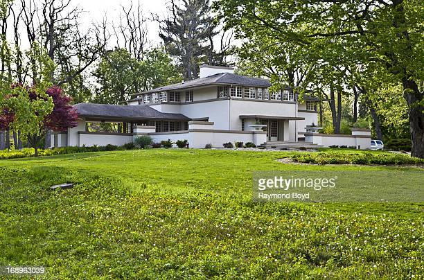 The AW Gridley House designed by famed architect Frank Lloyd Wright in 1906 in Batavia Illinois on MAY 12 2013