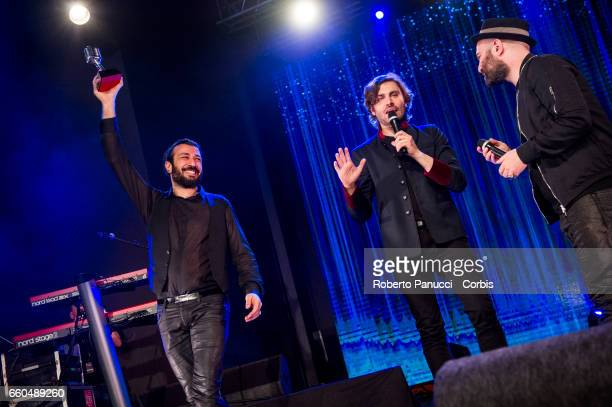The Award Ceremony of the Coca Cola OnStage Awards at Fabrique Music Club on March 25 2017 in Milan with the participation of Levante Francesco...