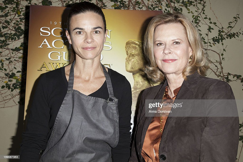 The Award-winning chef Suzanne Goin and the president of Screen Actors Guild <a gi-track='captionPersonalityLinkClicked' href=/galleries/search?phrase=JoBeth+Williams&family=editorial&specificpeople=792017 ng-click='$event.stopPropagation()'>JoBeth Williams</a> at the menu tasting at Lucques Restaurant on January 16, 2013 in Los Angeles, California.