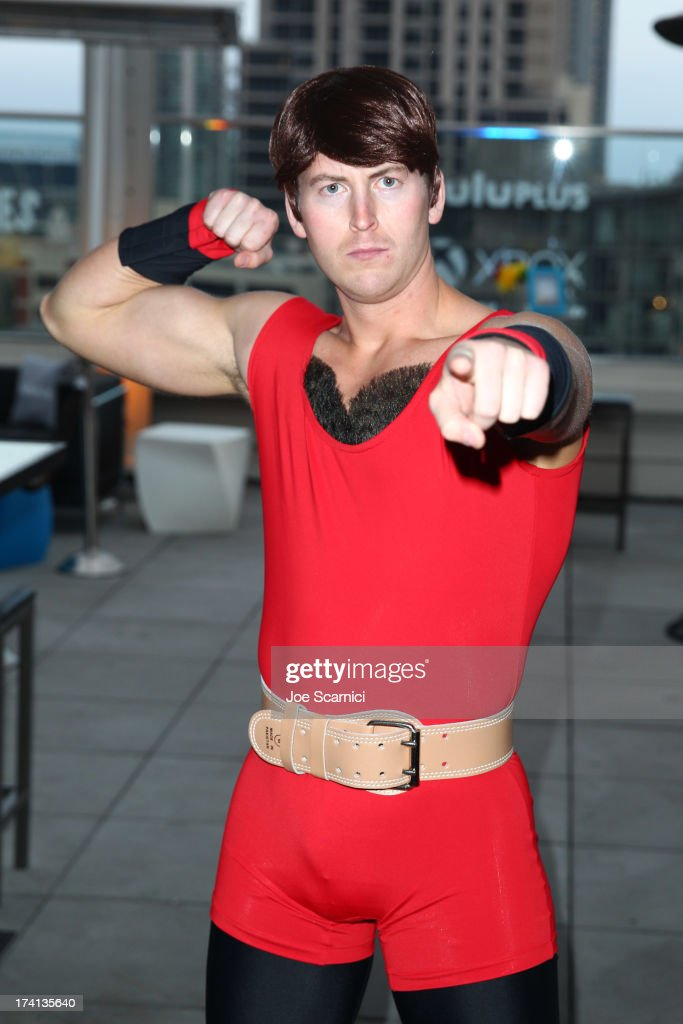 'The Awesomes' characters attend 'The Awesomes' VIP After-Party sponsored by Hulu and Xbox at Andaz on July 20, 2013 in San Diego, California.