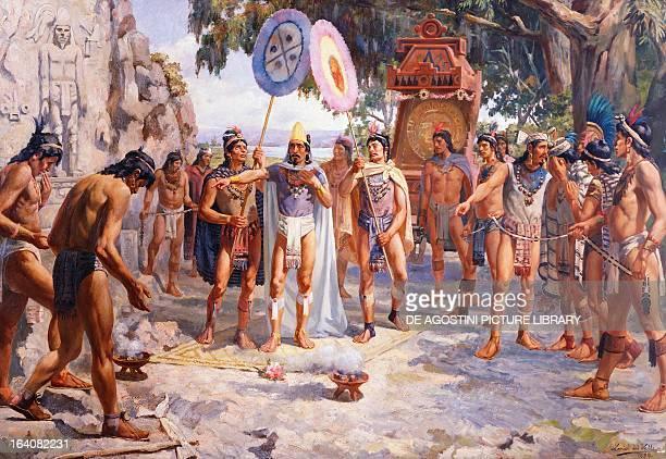 The Aztec Emperor Montezuma II in Chapultepec oil on canvas by Daniel del Valle 1895 Mexico 16th century Mexico City Museo Nacional De Arte