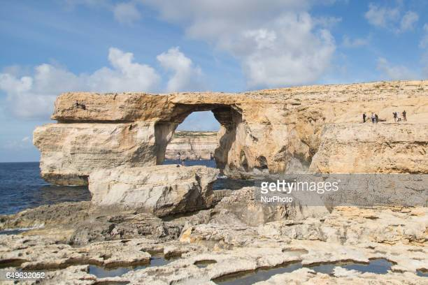 The Azure Window a limestone natural arch on the island of Gozo in Malta on 1 February 2017 Azure Window was collapsed during a severe storm on 8...
