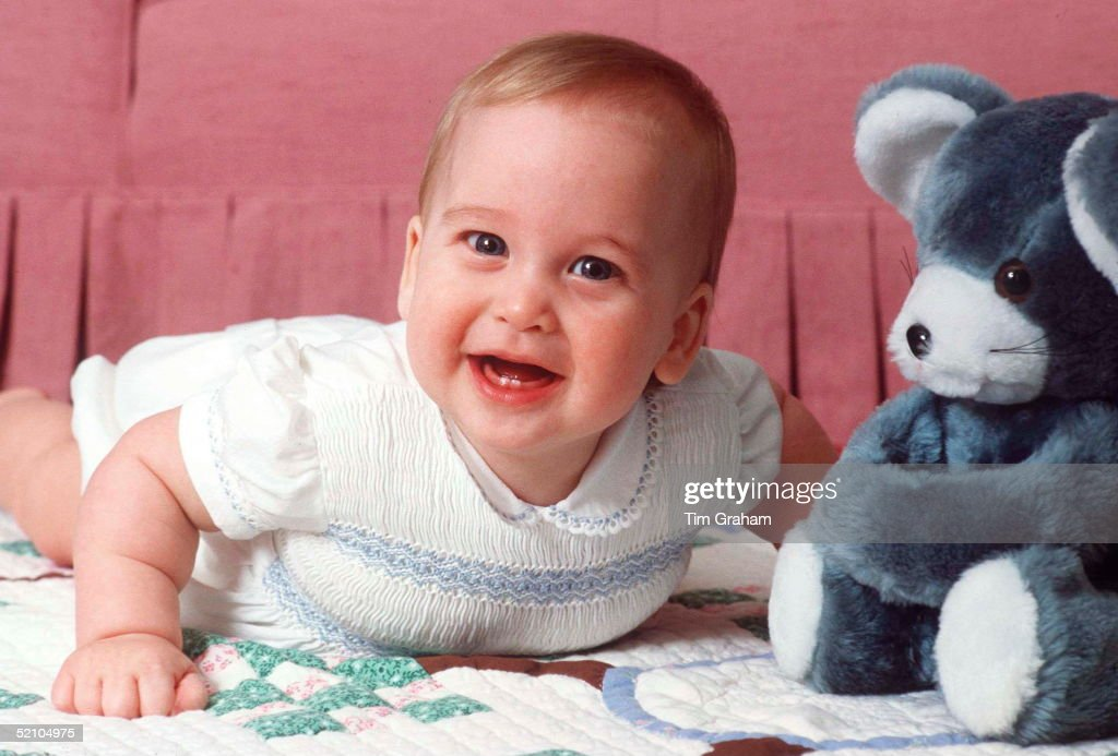 The Baby Prince William At Kensington Palace.