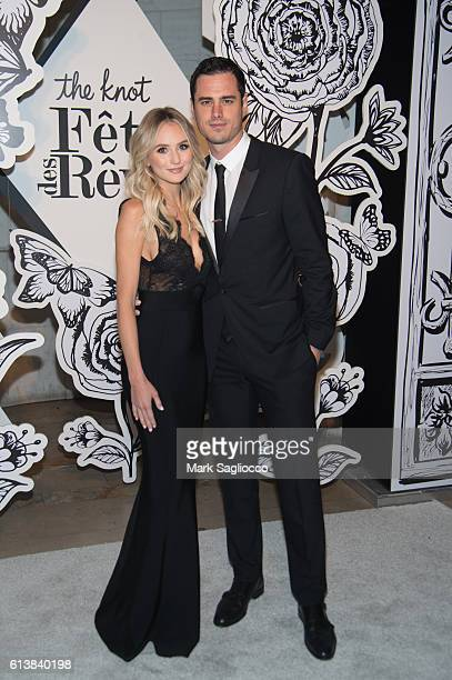 'The Bachelor' TV Personalities Lauren Bushnell and Ben Higgins attend The Knot Gala 2016 at the New York Public Library on October 10 2016 in New...