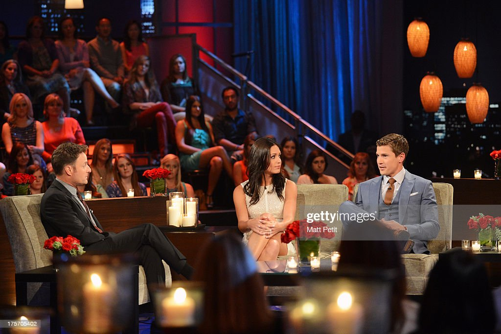 THE BACHELORETTE - 'The Bachelorette: After the Final Rose' - Emotions ran high as Desiree sat down with Chris Harrison, live, to talk about her three final bachelors from this season - Brooks, Chris and Drew. She took viewers back to those final days in Antigua when Brooks, the man she fell in love with, decided to go home. She discussed her feelings in those finals days, her relationships with the final three men and the heart-wrenching decisions that she had to make that changed their lives forever. Brooks, Chris and Drew are back to discuss the shocking outcome of the season. It's the poignant ending to Desiree's heartfelt journey to find true love, live, on 'The Bachelorette: After the Final Rose,' MONDAY, AUGUST 5 (10:01-11:00 p.m., ET). (Photo by Matt Petit/ABC via Getty Images) CHRIS