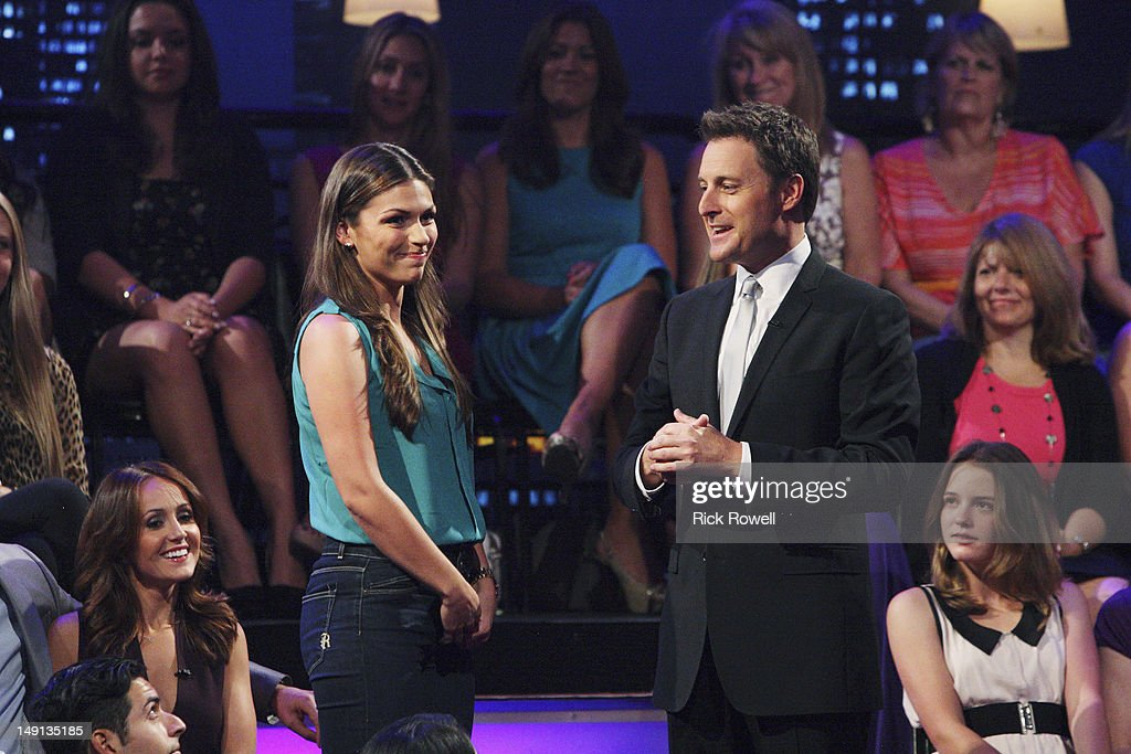 THE BACHELORETTE - 'The Bachelorette: After the Final Rose' - Emotions ran high as Emily sat down with Chris Harrison, live, to talk about her final two bachelors. She took viewers back to those final days in exotic Curaçao when she was conflicted about being in love with two men. Emily discussed her relationships with Arie and Jef and the heart-wrenching decision that changed all of their lives forever. Both men returned to share the bombshell outcome of the series. It was the emotional ending to Emily's heartfelt journey to find true love, live, on 'The Bachelorette: After the Final Rose,' SUNDAY, JULY 22 (10:01-11:00 p.m., ET). (Photo by Rick Rowell/ABC via Getty Images) ASHLEY