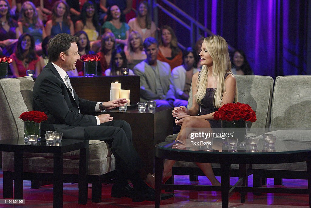 After the Final Rose' - Emotions ran high as Emily sat down with Chris Harrison, live, to talk about her final two bachelors. She took viewers back to those final days in exotic Curaçao when she was conflicted about being in love with two men. Emily discussed her relationships with Arie and Jef and the heart-wrenching decision that changed all of their lives forever. Both men returned to share the bombshell outcome of the series. It was the emotional ending to Emily's heartfelt journey to find true love, live, on 'The Bachelorette: After the Final Rose,' SUNDAY, JULY 22 (10:01-11:00 p.m., ET). MAYNARD