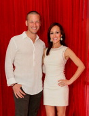 The Bachelorette's JP Rosenbaum and Ashley Hebert celebrate their oneyear anniversary at ME Cancun Rose Bar at ME Cancun Resort on May 25 2012 in...