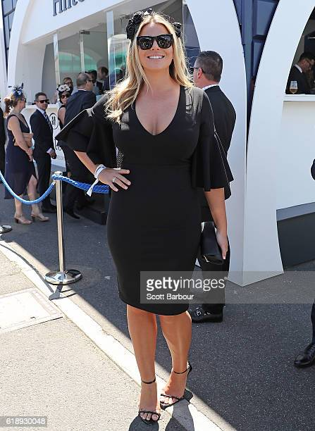 The Bachelor's Keira Maguire attends on Derby Day at Flemington Racecourse on October 29 2016 in Melbourne Australia