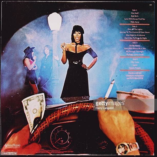 The back cover of the Donna Summer album 'Bad Girls' released in 1979
