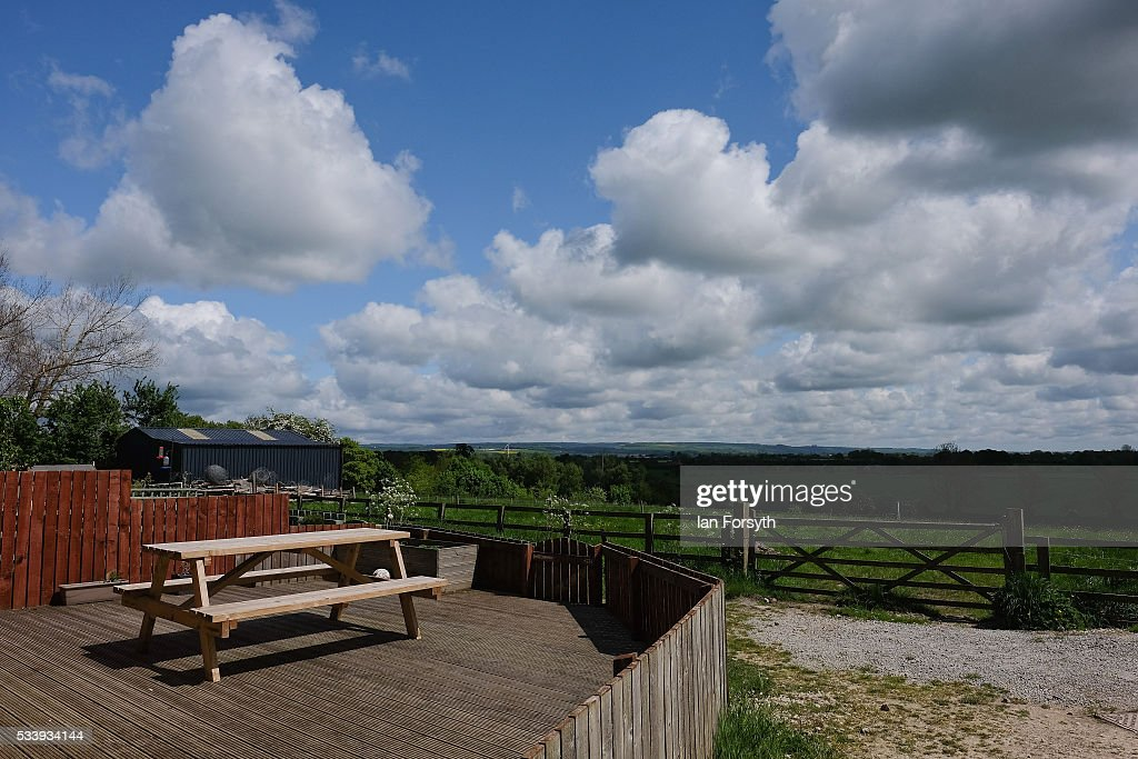 The back garden of a house looks out over the countryside from the village of Kirby Misperton on May 24, 2016 in Malton, England. North Yorkshire Planning and Regulatory Committee voted seven to four in favour of a planning application submitted by Third Energy to conduct fracking at the KM8 drilling site near the village. Hydraulic Fracturing, or fracking, is a technique designed to recover gas and oil from shale rock.