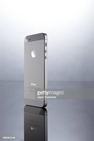 The back of a white Apple iPhone 5 smartphone taken on October 24 2012