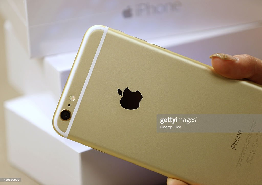 The back of an Apple iPhone 6 Plus gold is shown here at a Verizon store on September 18 2014 in Orem Utah Apples new iPhone 6's go on sale tomorrow...