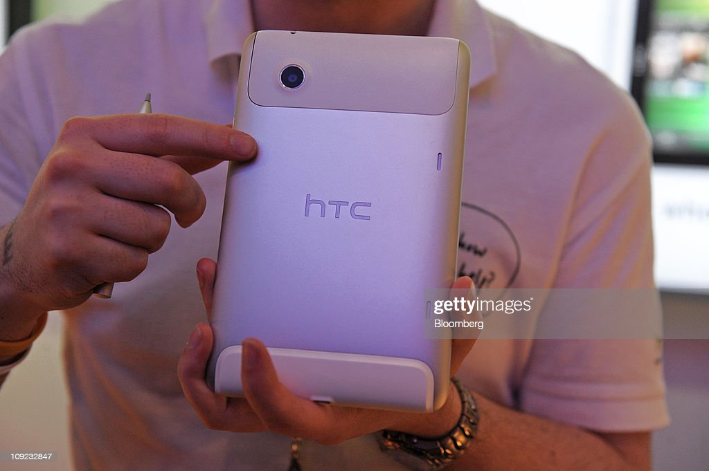 The back of an HTC Corp. Flyer tablet device is displayed for a photograph at the Mobile World Congress in Barcelona, Spain, on Thursday, Feb. 17, 2011. The Mobile World Congress takes place at Fira de Barcelona conference center Feb. 14-17. Photographer: Denis Doyle/Bloomberg via Getty Images