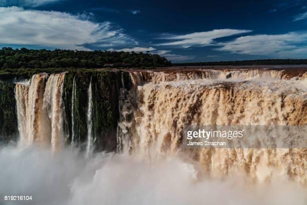 The back of the Garganta del Diablo (Devil's Throat), Iguazu Falls (UNESCO World Heritage Site) from Argentinian side, Iguazu, Argentina